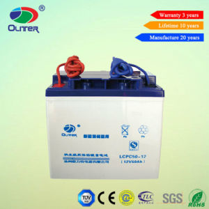 12V 50ah Solar AGM Battery for Street Light System pictures & photos
