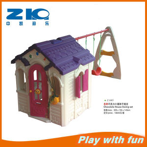 Children Playground CE Plastic House &Swing for Children pictures & photos