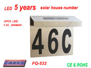 Fq-532 LED Address Plate by Solar Power House Numbers Light Doorplate The Solar Power Door Numbers Light pictures & photos