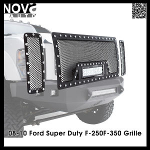 Chevy Silverado Dodge RAM for Ford150 Black Stainless Steel Wire Mesh Grille Car