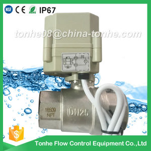 "1"" Dn25 2 Way 12V 24V Motorized Electric Water Shut off Ball Valve pictures & photos"