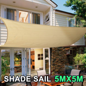 100% New HDPE Fabric Sand Color of Sun Shade Sail for Leisure (Manufacturer/Factory)