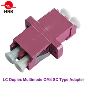 LC Duplex Multimode Om4 Sc Type Fiber Optic Adapter pictures & photos
