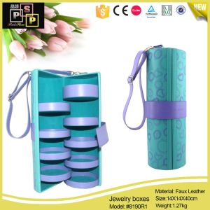 Wholesale Storage Round Tube Leather Gift Jewelry Box (8190) pictures & photos