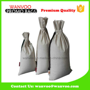 White Blank Cotton Rice Bag with Different String pictures & photos