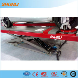 on Ground Double Level Scissor Lift for Four Wheel Alignment pictures & photos