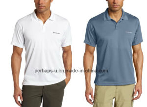 Breathable and Quick-Drying Polyester Mens Polo Shirt pictures & photos