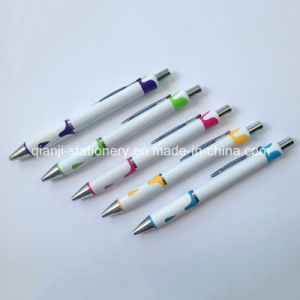 White Color Ball Pen with Logo (P1052) pictures & photos