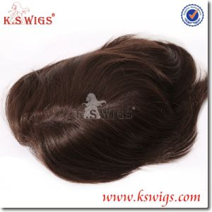 Best Quality Men′s Toupee Hair Virgin Remy Hair Human Hair pictures & photos