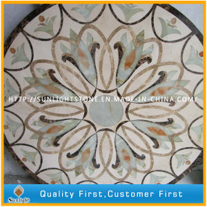 Natural Marble Stone Water Jet Medallion for Floor, Medallion Marble Tile pictures & photos