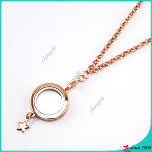 Rose Gold Plain Floating Lockets Necklace Wholesale (FL16040831) pictures & photos