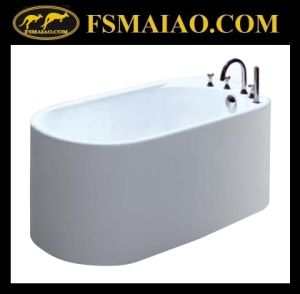 Small Size Bathroom Acrylic White Freestanding Bathtub (BA-8213) pictures & photos