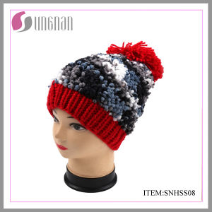 Winter Fashion Girls′ Hat with POM POM pictures & photos