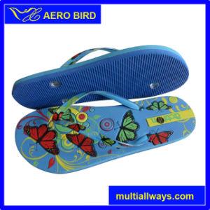 Fashion Design Double Color PE Slippers for Ladies (14D164) pictures & photos