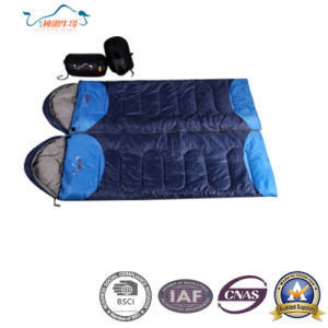 Soft and Warm Outdoor Double Envelope Sleeping Bag pictures & photos
