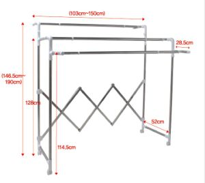 Stainless Steel Multi-Bar Telescopic Clothes Hanger pictures & photos