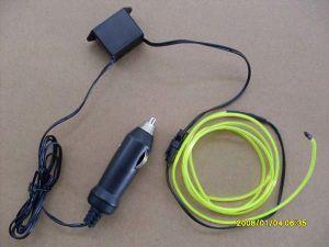 3m Excellent and Colorful 2.3mm EL Wire/EL Flashing Wire/EL Cable/EL Rope+ Car 12V