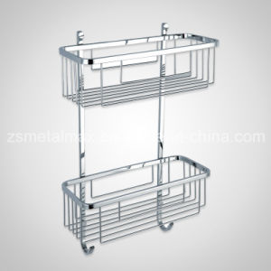 Bathroom Wall Corner Mounted Stainless Steel Shower Shelf (CJ003) pictures & photos