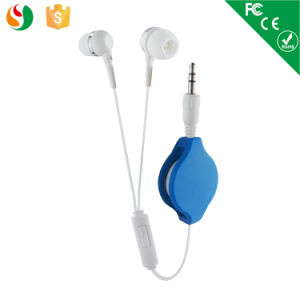 Plastic Promotion Earphones with Retractable Cord pictures & photos