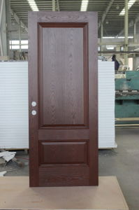 China high end wood look classic hand made fiberglass High end front doors