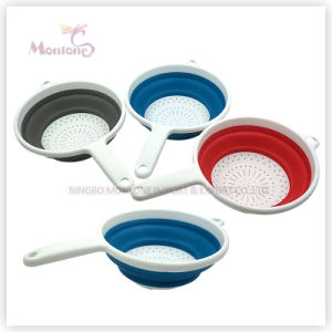 Kitchen Utensils Plastic Collapsible Colander pictures & photos