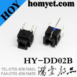 High Quality 10*10mm 4pin DIP Tact Switch/Micro Switch with Light in Bule (HY-DD01) pictures & photos