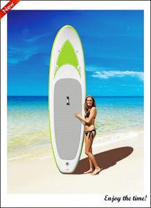 Light Green Surfing Board Drop Stitch Inflatable Sup Paddle Board pictures & photos