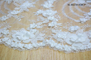 White Rayon Floral Lace Wedding Factory Vl-80218-3dbcp
