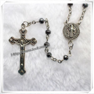 Catholic Magnet Beads Rosary, Hematite Rosary (IO-cr157) pictures & photos