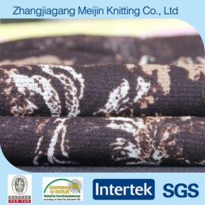 Knit High Elastic Print Nylon Mesh Fabric for Fashion (MJ5022)