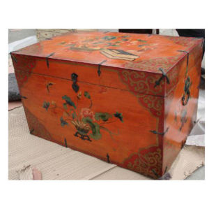 Antique Chinese Lift Top Wooden Trunk Lwf129 pictures & photos