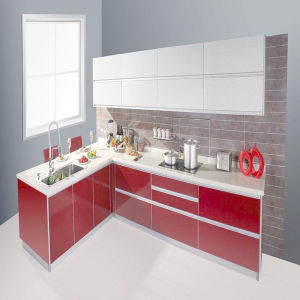 Foshan Factory Directly Sell Glossy MDF Kitchen Cabinet (ZH-C037) pictures & photos