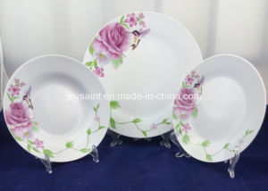 Exquisite Decal Round Porcelain Plate for Dinner