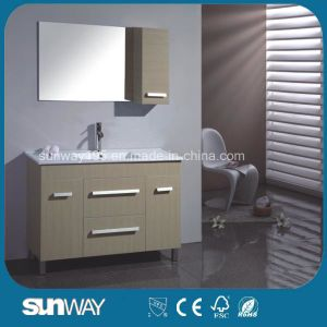 Floor Standing Melamine Bathroom Vanity with Sink pictures & photos