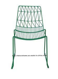 Modern Classic Steel Dining Stackable Bend Side Wire Chair pictures & photos