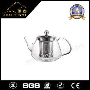 Plastic Glass Infuser Teapot for Drinking with SUS304 Stainless Steel Strainer pictures & photos