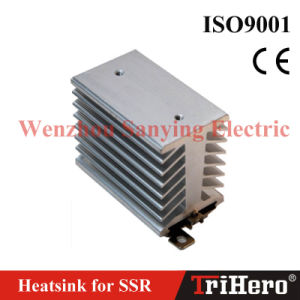 Heatsink with DIN Rail Mounting Base for Single Phase Solid State Relay pictures & photos