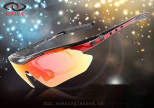 Custom Brand Sports Goggles with Colorful Polarized Lens OEM (SS0089) pictures & photos