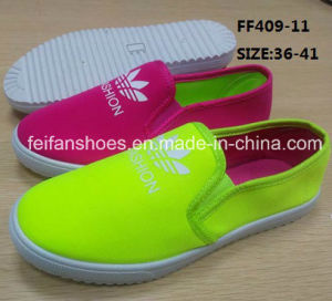 Fashion Women Injection Casual Shoes Canvas Shoes Walking Shoes (FF409-11) pictures & photos