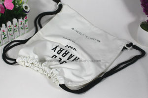 Wholesale Cotton Muslin Canvas Drawstring Bag for Promotion pictures & photos