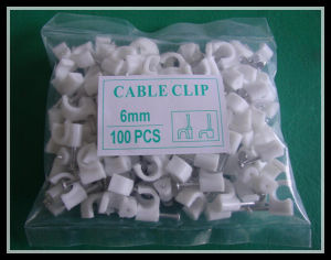 6mm Round Flat Nail Clip Plastic Wall Clip Manufacturer pictures & photos