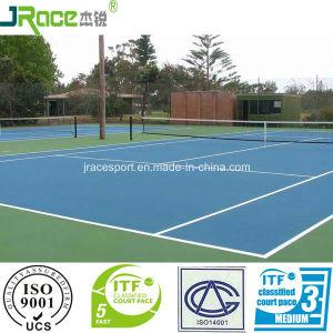 Good Cushion Effect Sport Surface Tennis Court Outdoor Sport Floor pictures & photos