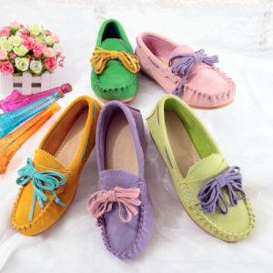 Maternity Casual Women Espadrilles Flat Heel Leather pictures & photos