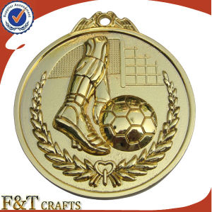 Decorative Custom Made 3D Engraved Football Medal (FTMD1388A) pictures & photos