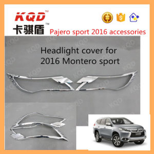 Good ABS Material Headlight Cover for Mitsubishi Montero Lights Chrome Cover Pajero Sport Accessories Headlight Cover