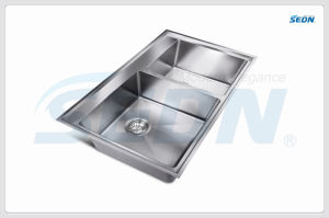 Handmade Double Bowl Stainless Steel Sinks (SC2007) pictures & photos
