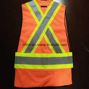 Safety Vest with High Reflective Caution Band 5 Point Away pictures & photos
