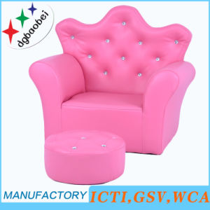 Crown Buckle Children Furniture/Cute Kids Chair and Ottoman/Children Sofa (SXBB-17) pictures & photos