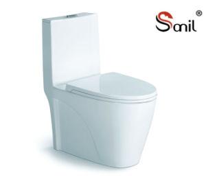 Wholesale Good Quality Hot Sale Ceramic Siphonic One-Piece Toilet (S7505) pictures & photos