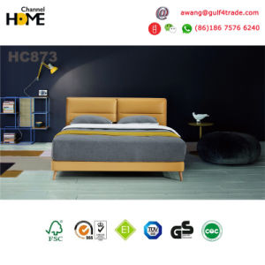 Modern Bedroom Leather Bed (HC873) pictures & photos